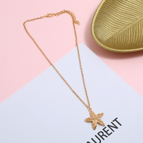 Women's Necklace Bohemia Style Star Fish Design Faddish Necklace Accessory Metal Decoration Casual Fashion Geometric