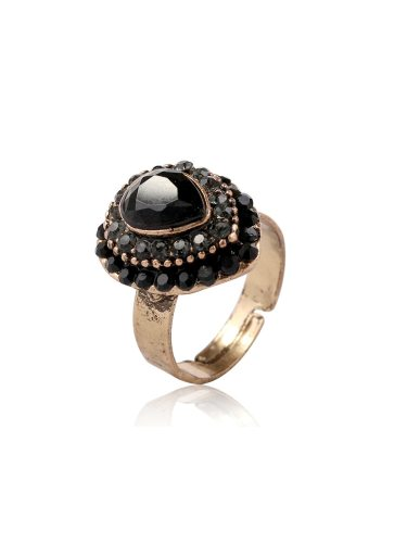 Women's Fashion Ring Water Drop Shaped Opening Ring Fine Accessory