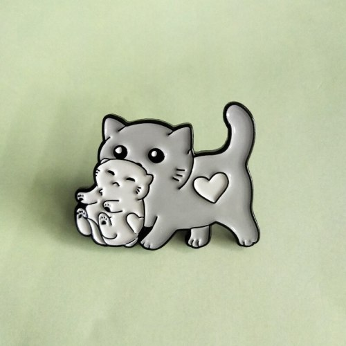 Rifuzemo 3Pcs Women's Pins Cute Style Lightweight Fashion OL Metal Decoration Animal Print