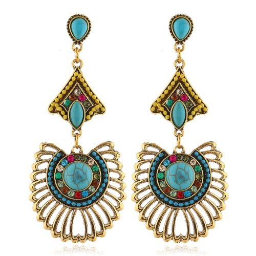 1 Pair Women's Drop Earrings Ethnic Exaggerate Hollow Out Long Fashion Geometric Accessory Tassel Others Casual No Inlay