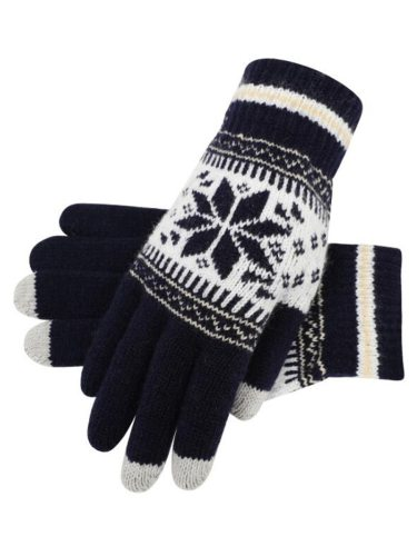 Women's Warm Gloves Color Block Geometric Pattern Knitted Hand wash Argyle Touchscreen