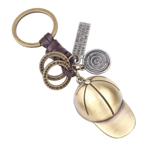 Men's Key Ring Creative Casual Shape Letters Inlay Vintage Key Ring Accessories