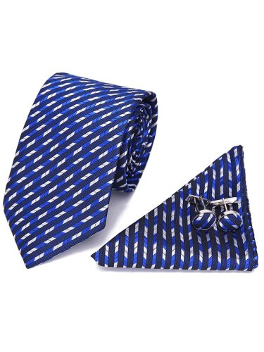4Pcs Men's Gifts Business Tie Round Shape With Kerchief Gift Box Cufflinks Formal Polka Dot Others 4-6Pcs and cufflinksTie size :146x75x35cmSquare