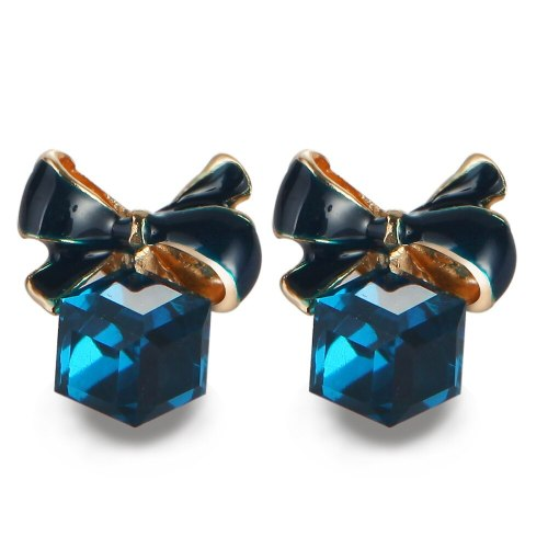 1 Pair Women's Studs Stylish Sweet Bow Decor Earrings Fashion Accessory