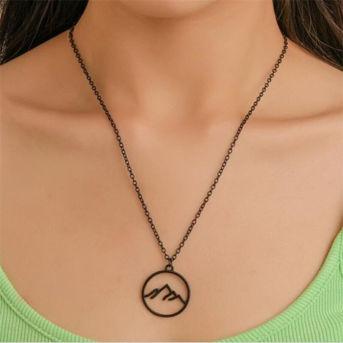 Women's Fashion Necklace Solid Color Creative Necklace Accessory Basic