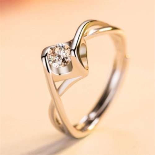 Women's Fashion Ring Ladylike Rhinestone Inlaid Vintage Hollow out Accessories Casual Solid Color