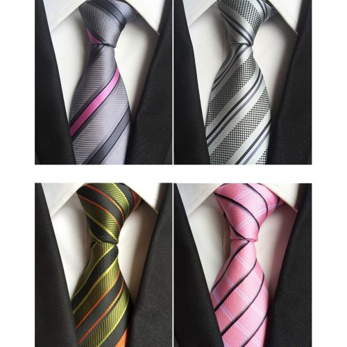 One Piece Men's Tie Fashion All Match Stripe Pattern Decor Simple size:148*8*35cm Casual Contrast Color Striped