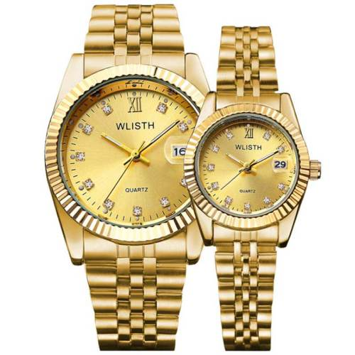 Women's 2 Pieces Couple Watches Fashion Steel Strap Water Proof Elegant Men's Watches Stainless Steel Geometric Quartz Round Figure Sexy Alloy