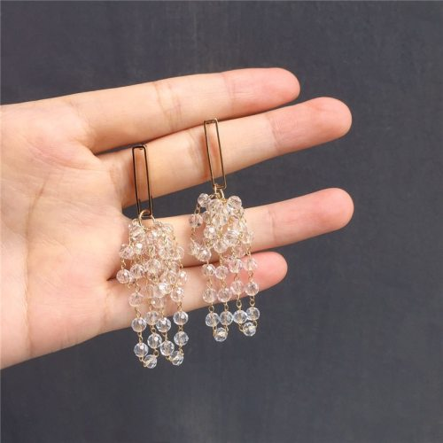 Women's Drop Earrings Creative Ladylike All Match Metal Decoration Fine No Inlay Geometric Solid Color Ethnic Accessories Allergy Free