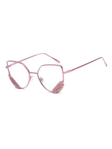 Women's Chic Stylish All Match Metal Eyeglasses Fashion Accessory Wayfarer Butterfly Shape