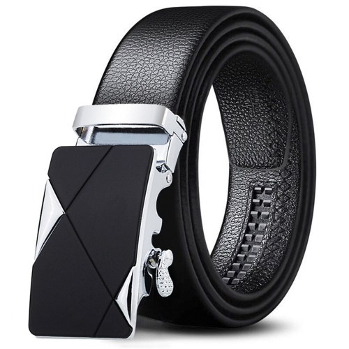 Men's Belt Automatic Buckle High Quality Durable Casual Metal Decoration Men's Belts Fashion Solid Color Accessory