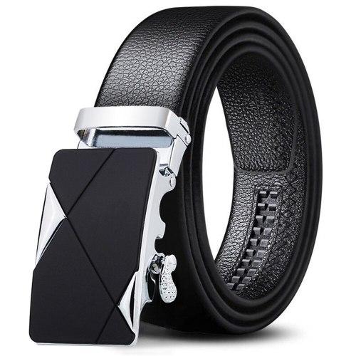 Men's Belt Automatic Buckle High Quality Durable Casual Metal Decoration Men's Belts Fashion Solid Color Accessory
