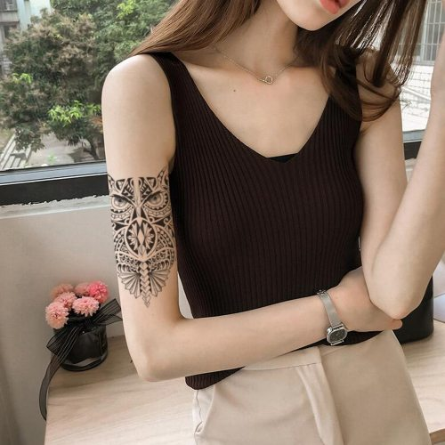 Women's Tattoo Sticker Fashion Owl Pattern Water Proof Personality Longlasting Sweet Animal Accessory Hollow out