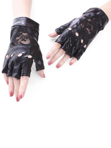 Women's Sun Protection Gloves Light Lace Breathable Gloves Fashion Hollow out Wipe clean