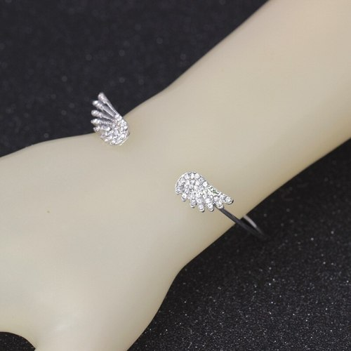 Women's Bracelet Simple Open Wings Decor Elegant Fashion Vintage Catenary/Necklace Infinite Charming Jewelry Metal Decoration Geometric