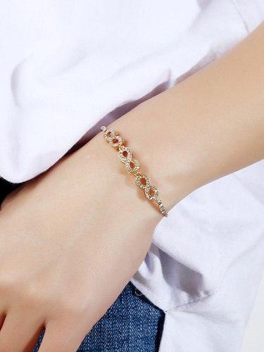 Women's Bracelet Rhinestone Decor All Match Adjustable Stylish Fashion Accessory