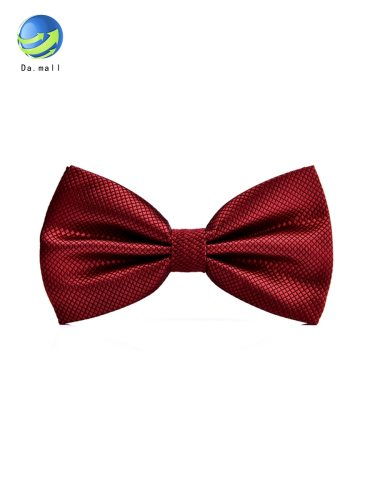 Men's Tie Fashion Stylish Double-deck Bridegroom Bow Casual Solid Color