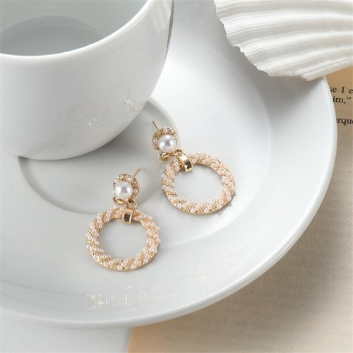 Women's Drop Earrings Hollow Out Design Elegant Earrings Round/Circle OL Accessory No Inlay Vintage Allergy Free