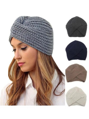 Women's Skullies Color Knitted Simple Design Casual Warm Trendy Hat Drape Hand wash Winter None very flexible【 Weight: 】 54G Baseball Caps Solid