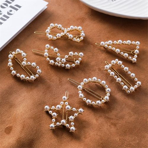 Women's Hair Clip All Match Geometry Design Pearl Decor Stylish Fine Hair Accessories Wipe clean weight about 1217gButterfly is about 68cm long The