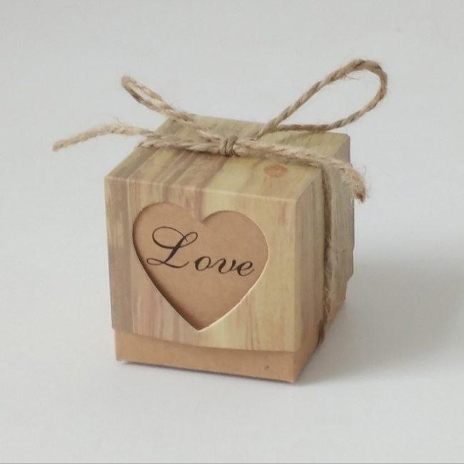 10pcs/lot Women's Candy Box Gift Romantic Heart Kraft Gift Wedding Bag Plaid Letter Casual 7-10Pcs