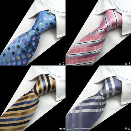 One Piece Men's Tie Fashion High Grade Business Dots Plaid Decor OL Contrast Color Striped size:150*8*35cm