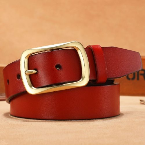 Men's Belt High Quality Pin Buckle Solid Color Casual Basic Letter Men's Belts Accessory