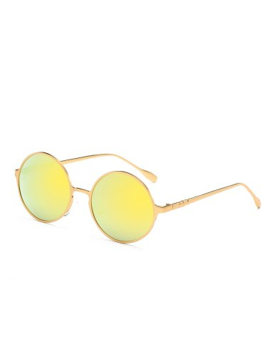 Women's Metal Cat Eye Glasses Vintage Accessory Round Circle Fashion Wipe clean Sunglasses