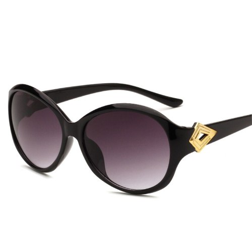 Women's Ladylike Chic All Match OL Stylish Anti-UVA Sports Sequined Wayfarer Wipe clean Geometric Oval Shape Accessories Sunglasses