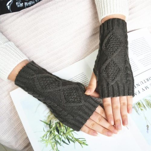 Women's Warm Gloves Breathable Fingerless Chic Gloves Hand wash Geometric Outdoor Vintage