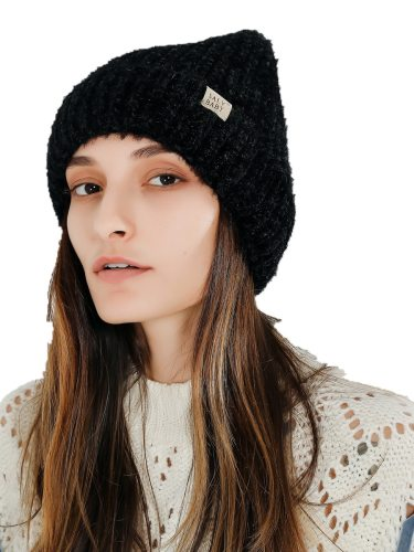 Women's Beanie Warm Knitted Comfy All Match Color Hat Skullies & Beanies Drape Wipe clean Winter Accessories Solid