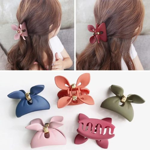 3 Pieces/Set Women's Rabbit Ears Decor All-Match Elegant Fashion Wipe clean Hair Clips Geometric Bow Top Fashion
