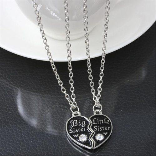 2 Pcs Women's Necklace Set Heart Design Letter Pattern Accessory Fashion