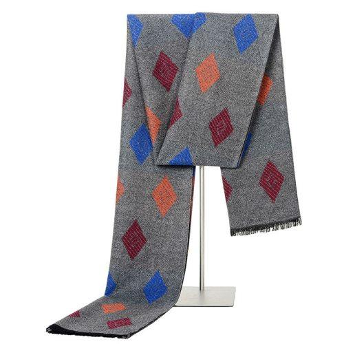 SAN VITALE Men's Scarf Comfy Warm Color Block Hand wash Top Fashion Geometric Winter Scarves Accessory Tassel