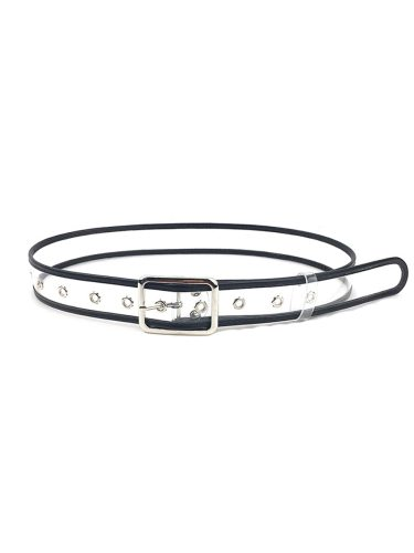 1 Pc Jeans Belt Simple Style PVC One-loop Accessories Solid Women's Belts Fashion