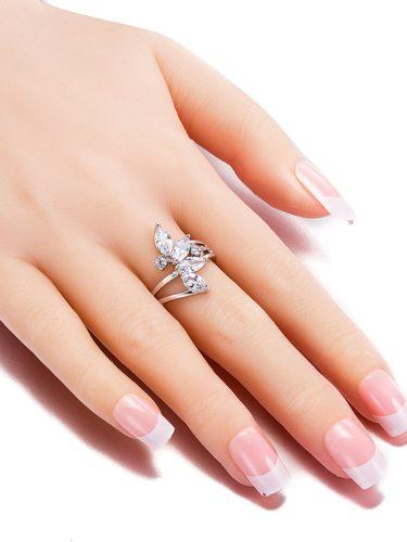 Women's Ring Zircon 1 Piece Exquisite Womens Accessories Fashion
