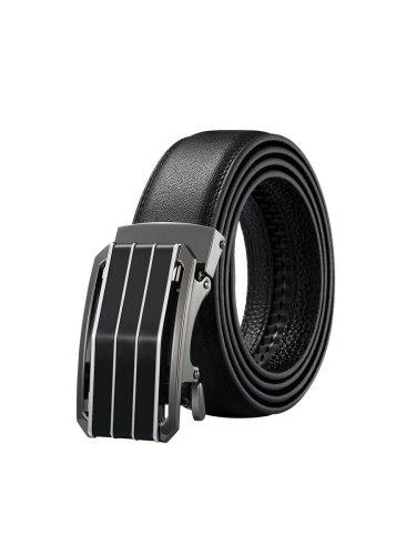Zaitun Men's Belt Leather Ratchet Automatic Sliding Buckle Design Belt Accessory Basic Men's Belts soft strap Alloy buckleAutomatic buckle: Auto Lock