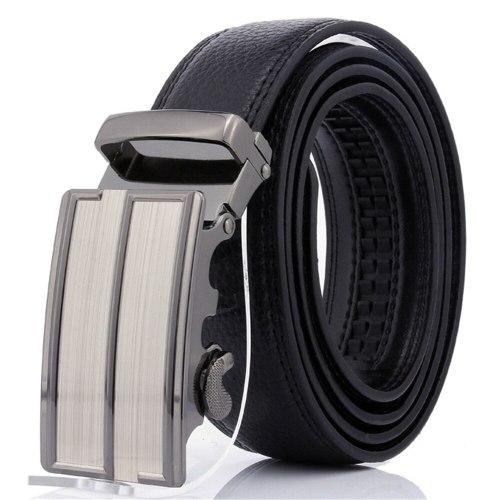 Men's Belt Automatic Buckle Durable Business Solid Color Men's Belts Accessory Metal Decoration Basic