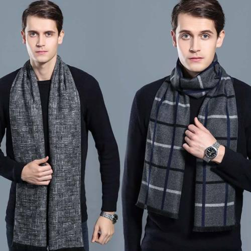 Men's Scarf Color Block Comfy Warm Windproof Outdoor Print Wipe clean Accessory Scarves Winter Scarves Contrast Color