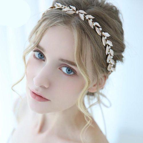 Women's Hairband Leaf-shape Wedding Exquisite Hair Hairbands Fashion