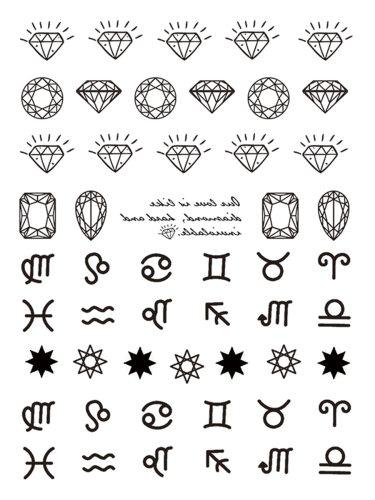 2Pcs Women's Tattoo Stickers Creative Pattern Water Proof Tattoo Other Longlasting Geometric