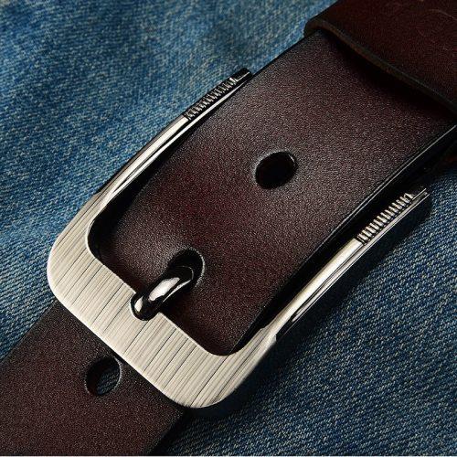 Men's Belt Pin Buckle Casual Solid Color Letter Fashion Men's Belts Accessory