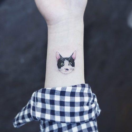 Women's Tattoo Sticker Cute Cat Pattern Water Proof Temporality Tattoo