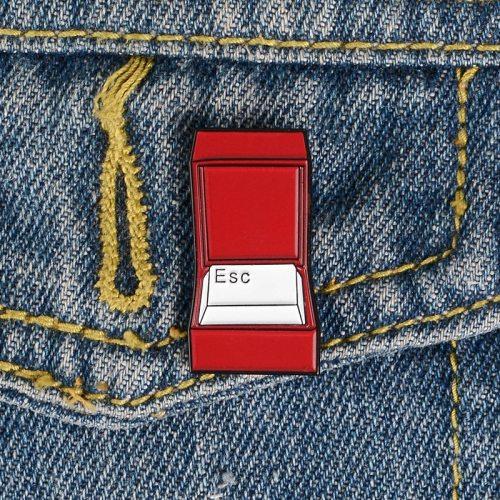 3 Pcs Women's Pin Brooches Fashion Color Block Brooch Cartoon OL Metal Decoration