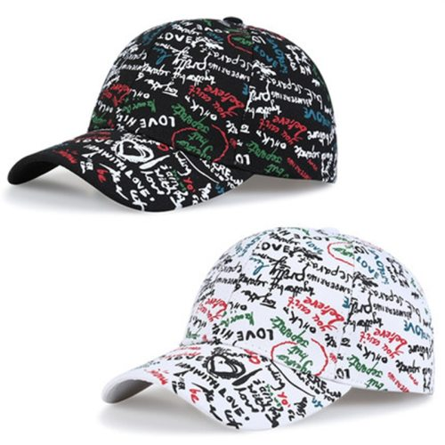 One Piece Women's Baseball Cap Fashion Cartoon Poor Handwriting Pattern Top Fashion Embroidery Letter Hip-hop All the year round Baseball Caps Big