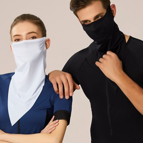Unisex Mask Sun-proof Outdoor Cycling Silk-like Accessory Solid Color Hand wash Formal Scarves Winter Scarves