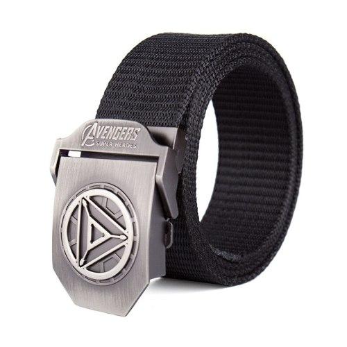 Men's Canvas Belt Durable Casual Solid Color Basic Accessory Men's Belts Contrast Color