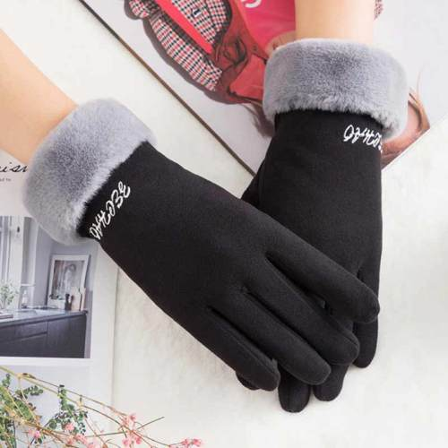 Women's Warm Gloves Solid Color Fashion Gloves Striped Punk Tassel Outdoor Hand wash