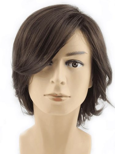 Men's Wig Multi Function Party Use All Match Breathable Cool Design Hand wash Straight Basic