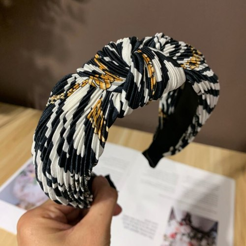 One Piece Women's Hairband Ladylike Chic Hair Metal Decoration Celebrity Geometric Hair Accessories Fashion